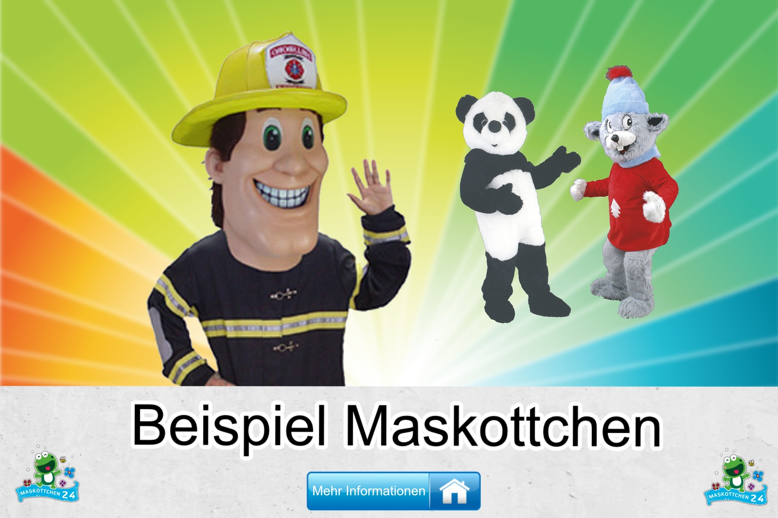 Beispiel Maskottchen Kostüm kaufen