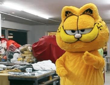 Garfield-Kostuem-Produktion-Walking-Act
