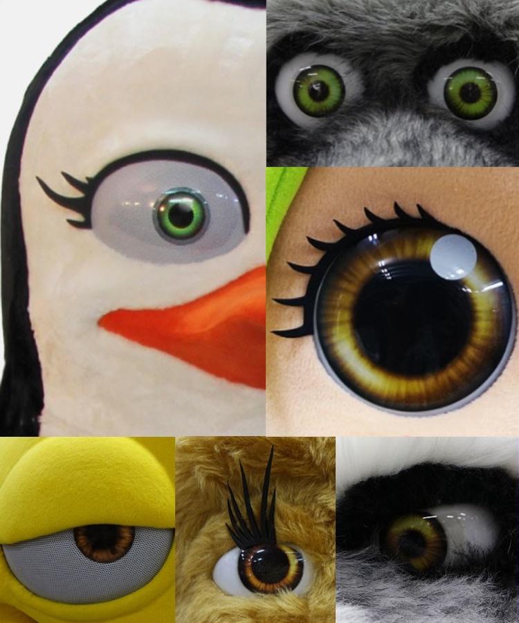 Hersteller-Kostuem-Maskottchen-Augen