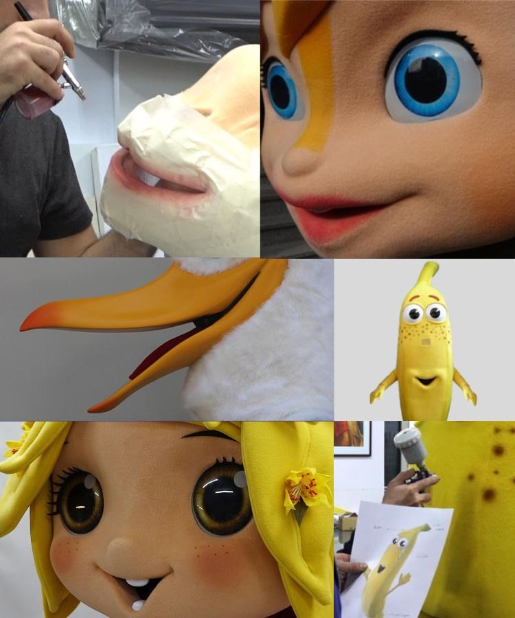 Produktion-Bau-Maskottchen-Lauffiguren
