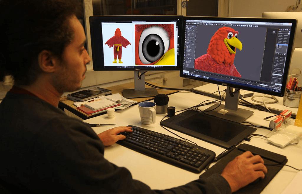 Produktion-Maskottchen-Designer-Entwurf-Adler